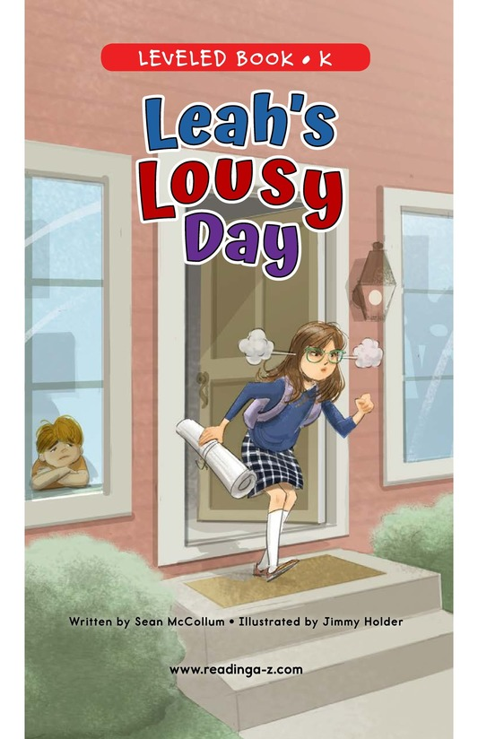 Book Preview For Leah's Lousy Day Page 0