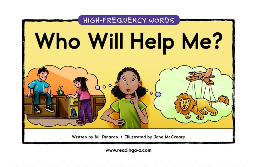 Book Preview For Who Will Help Me? Page 1