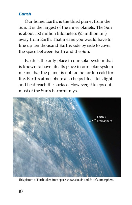 Book Preview For The Planets in Our Solar System Page 10