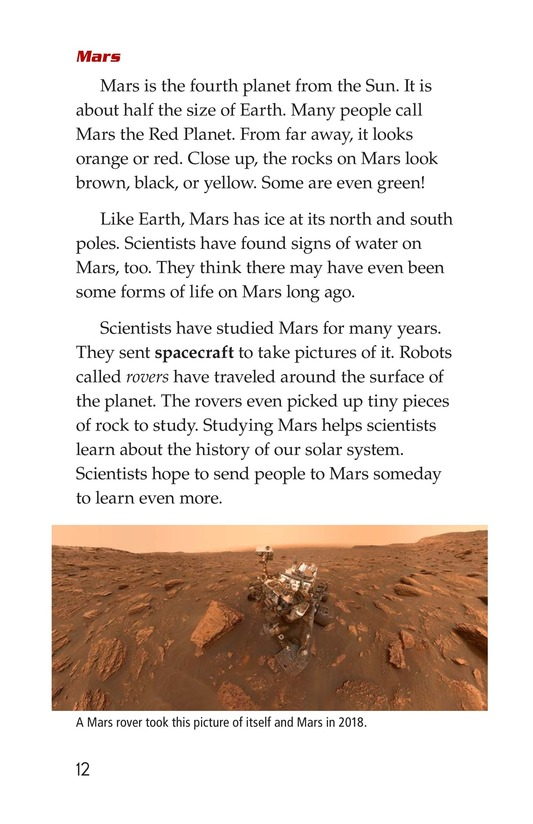 Book Preview For The Planets in Our Solar System Page 12