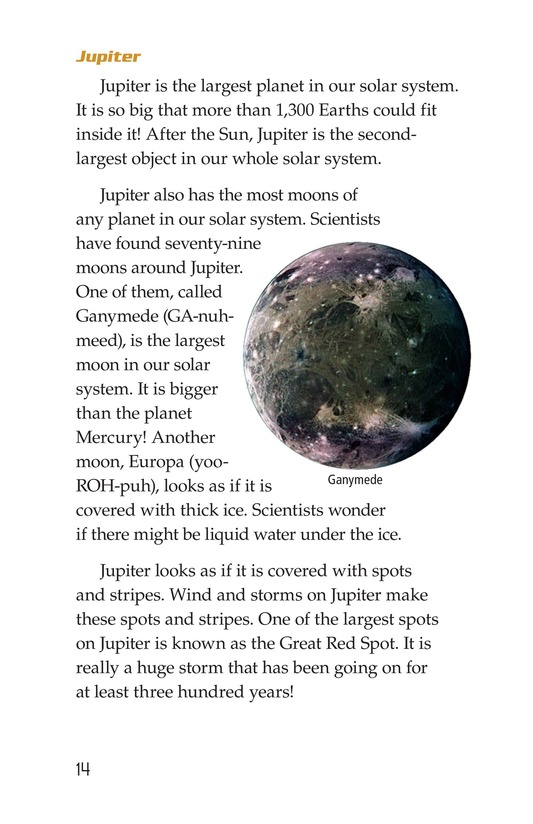 Book Preview For The Planets in Our Solar System Page 14