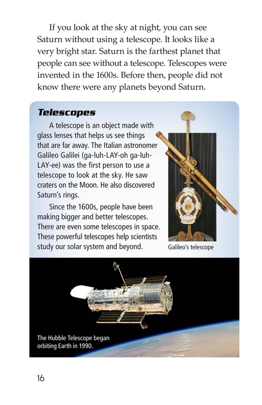Book Preview For The Planets in Our Solar System Page 16