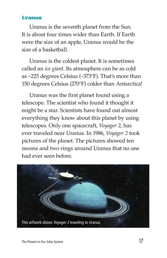 Book Preview For The Planets in Our Solar System Page 17