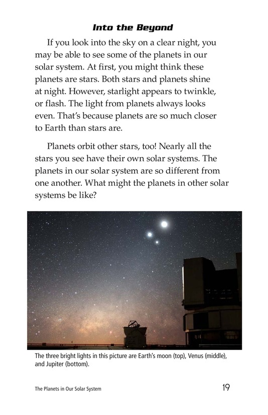 Book Preview For The Planets in Our Solar System Page 19