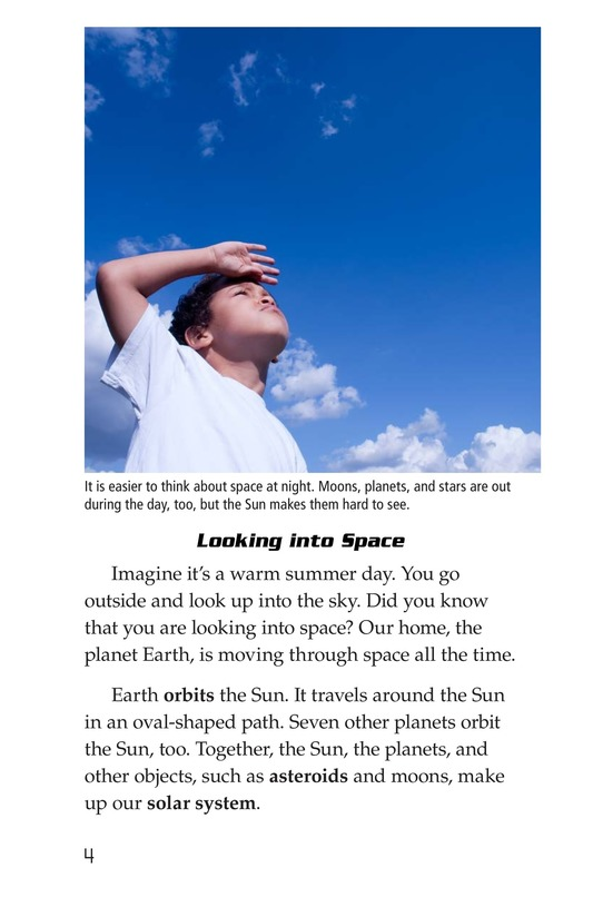 Book Preview For The Planets in Our Solar System Page 4