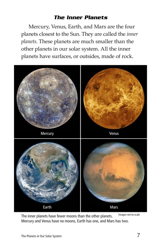 Book Preview For The Planets in Our Solar System Page 7