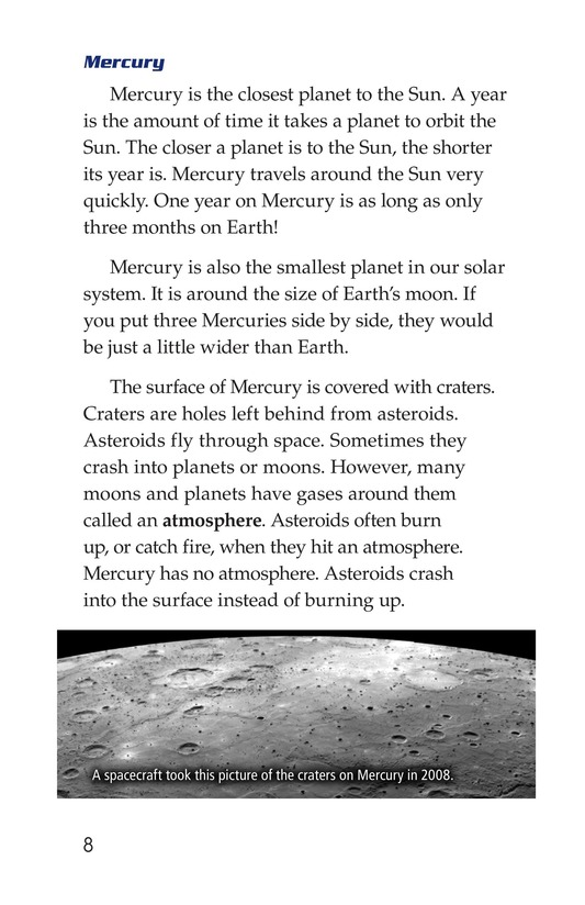 Book Preview For The Planets in Our Solar System Page 8