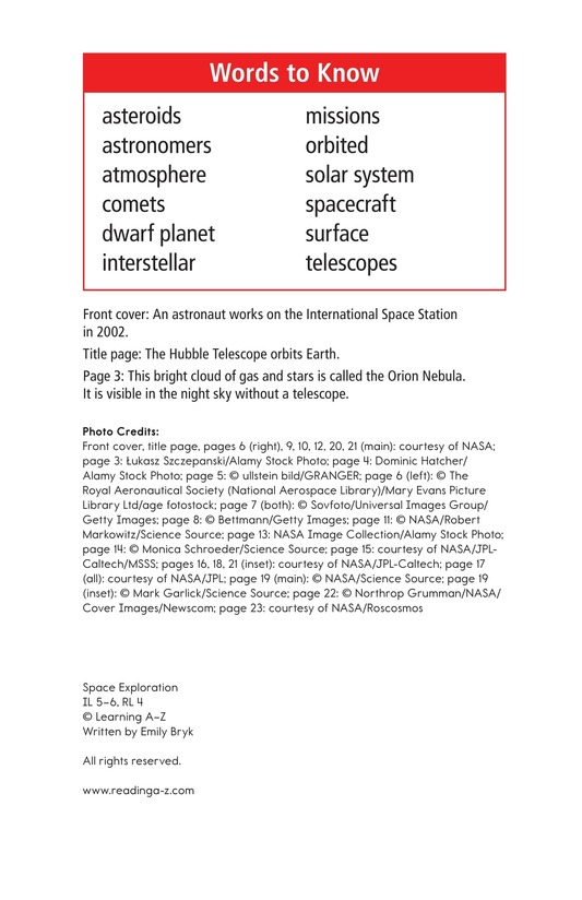 Book Preview For Space Exploration Page 2