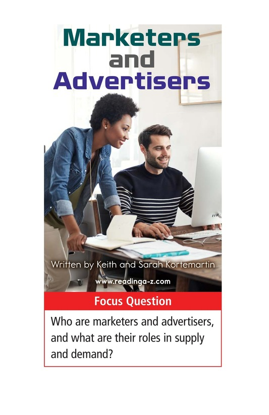 Book Preview For Marketers and Advertisers Page 1