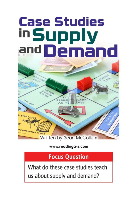 Book Preview For Case Studies in Supply and Demand Page 1