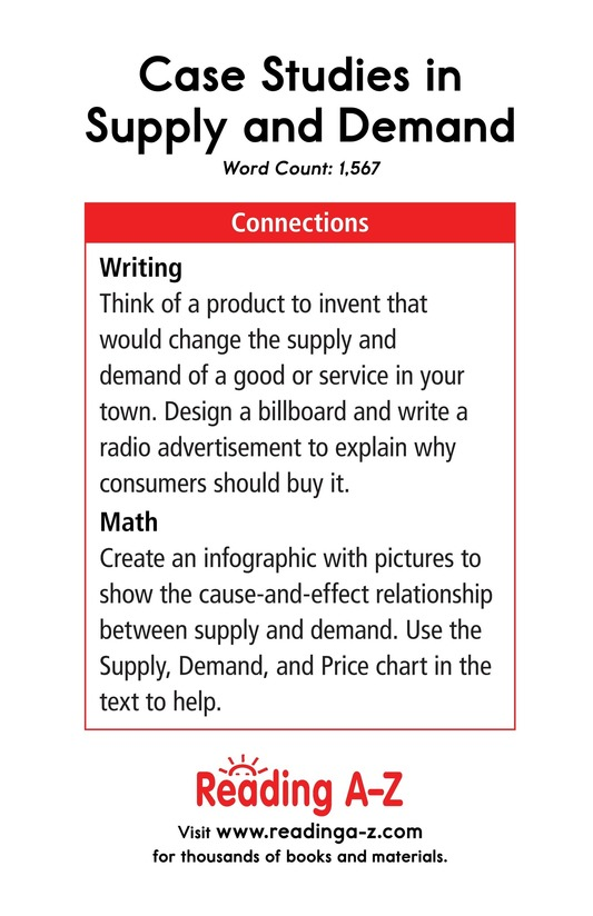Book Preview For Case Studies in Supply and Demand Page 17