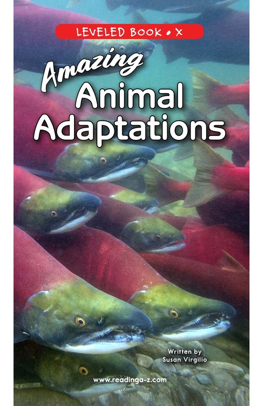 Book Preview For Amazing Animal Adaptations Page 0