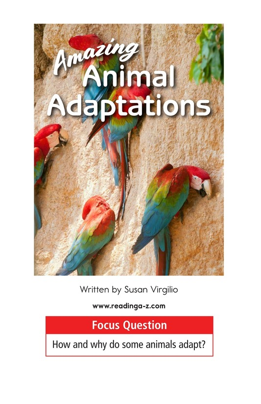 Book Preview For Amazing Animal Adaptations Page 1