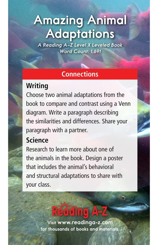Book Preview For Amazing Animal Adaptations Page 21