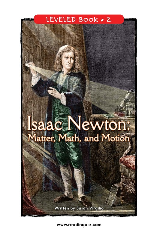 Book Preview For Isaac Newton: Matter, Math, and Motion Page 0
