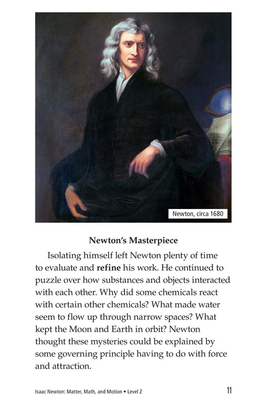 Book Preview For Isaac Newton: Matter, Math, and Motion Page 11