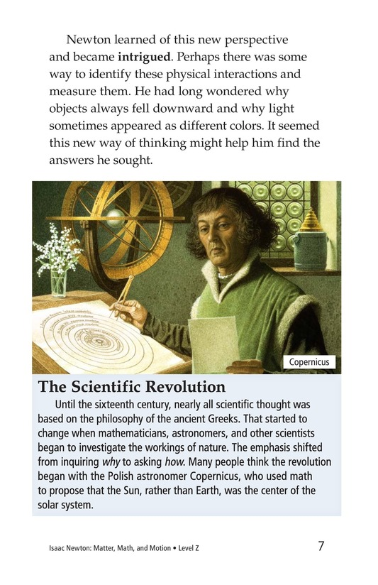 Book Preview For Isaac Newton: Matter, Math, and Motion Page 7