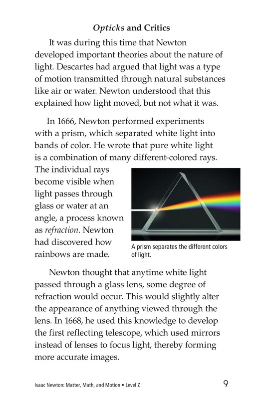 Book Preview For Isaac Newton: Matter, Math, and Motion Page 9