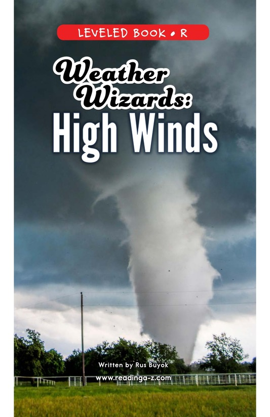 Book Preview For Weather Wizards: High Winds Page 0