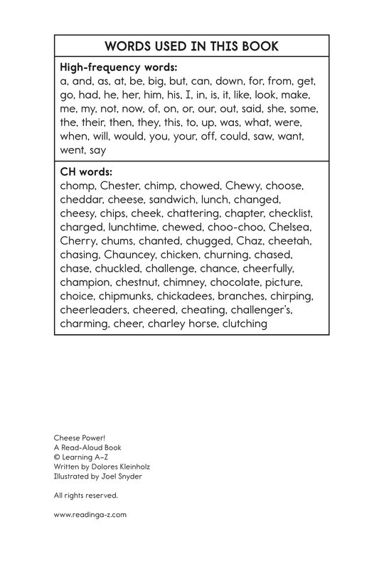 Book Preview For Cheese Power! Page 13