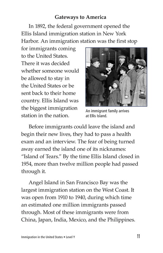 Book Preview For Immigration in the United States Page 11