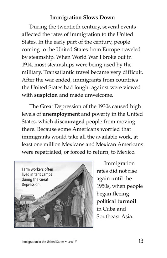 Book Preview For Immigration in the United States Page 13