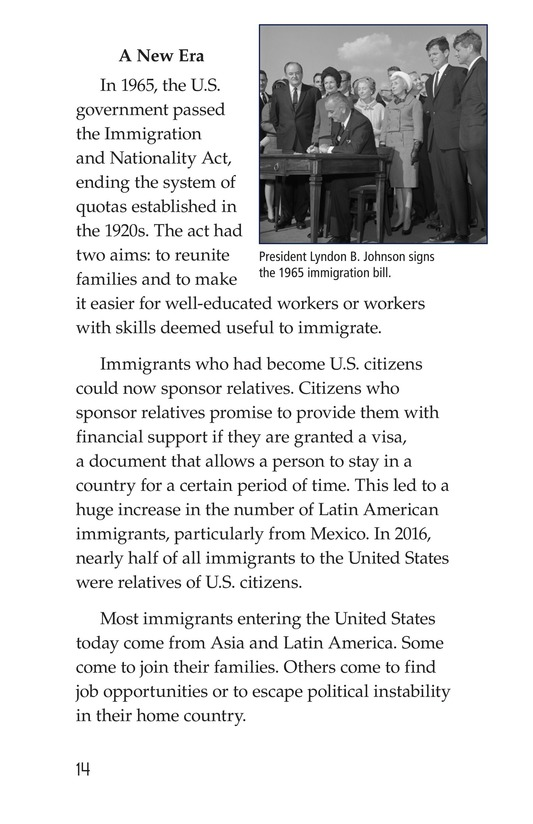 Book Preview For Immigration in the United States Page 14