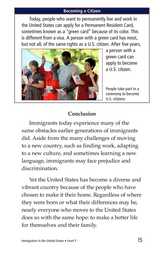 Book Preview For Immigration in the United States Page 15