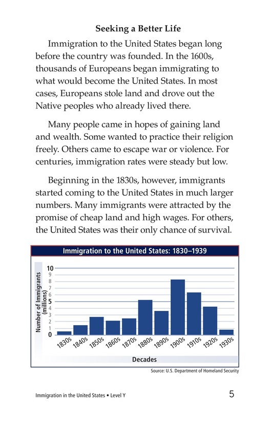Book Preview For Immigration in the United States Page 5