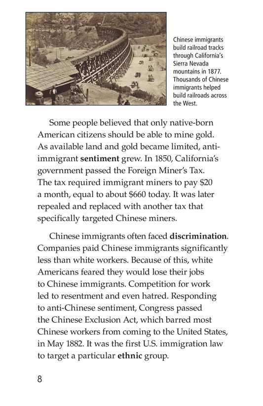 Book Preview For Immigration in the United States Page 8