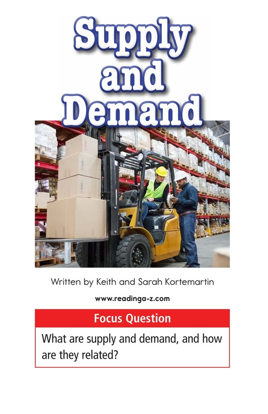 Book Preview For Supply and Demand Page 1