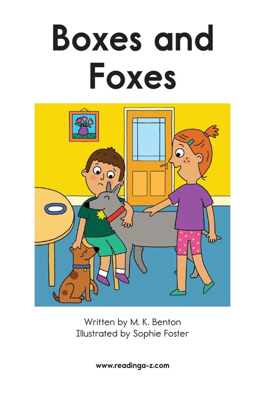 Book Preview For Boxes and Foxes Page 2