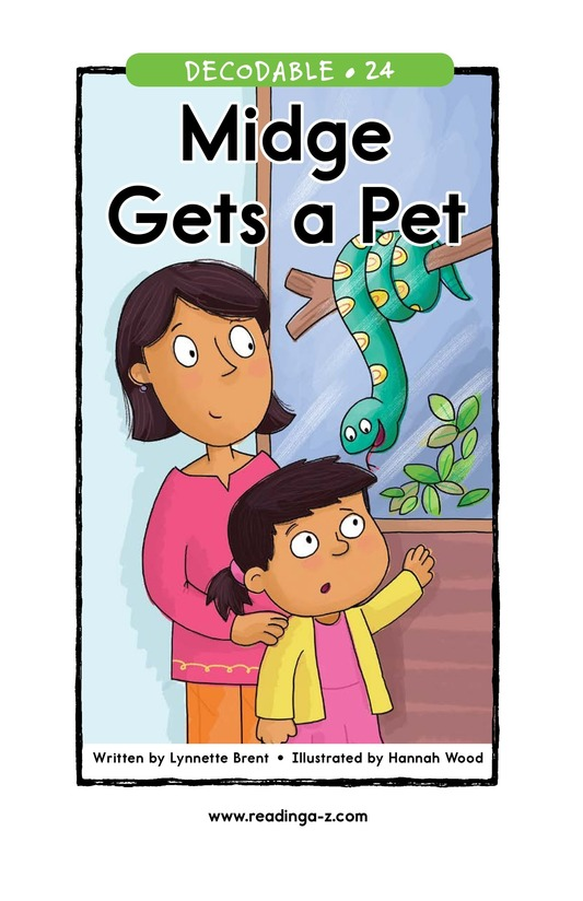 Book Preview For Midge Gets a Pet Page 1