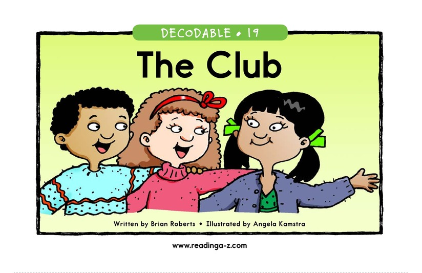 Book Preview For The Club Page 1