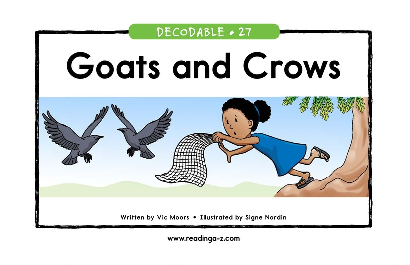 Book Preview For Goats and Crows Page 1