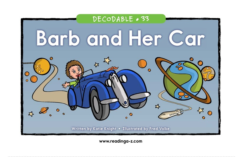 Book Preview For Barb and Her Car Page 1