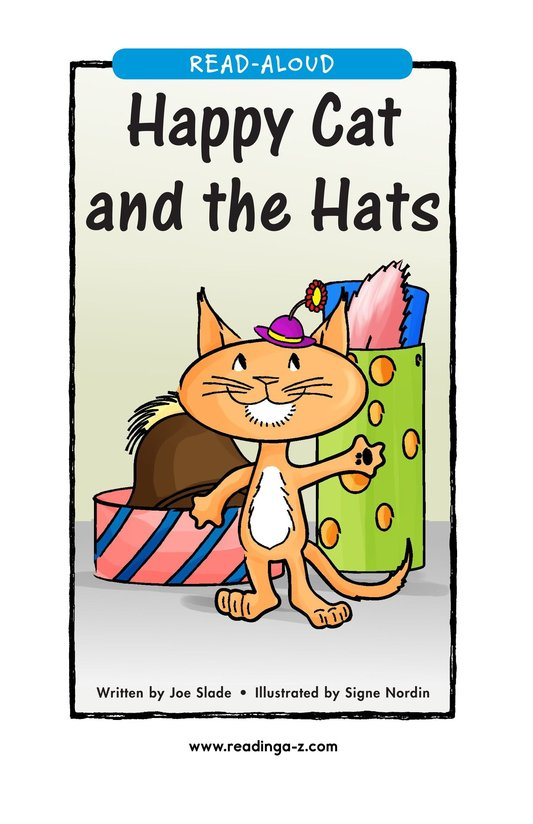 Book Preview For Happy Cat and the Hats Page 1