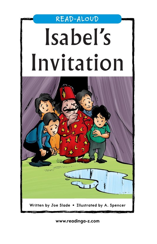 Book Preview For Isabel's Invitation Page 1