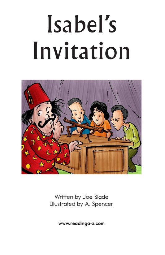 Book Preview For Isabel's Invitation Page 2