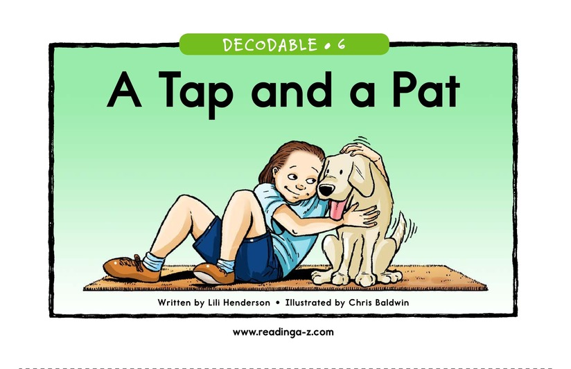 Book Preview For A Tap and a Pat Page 1