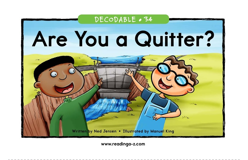 Book Preview For Are You a Quitter? Page 1