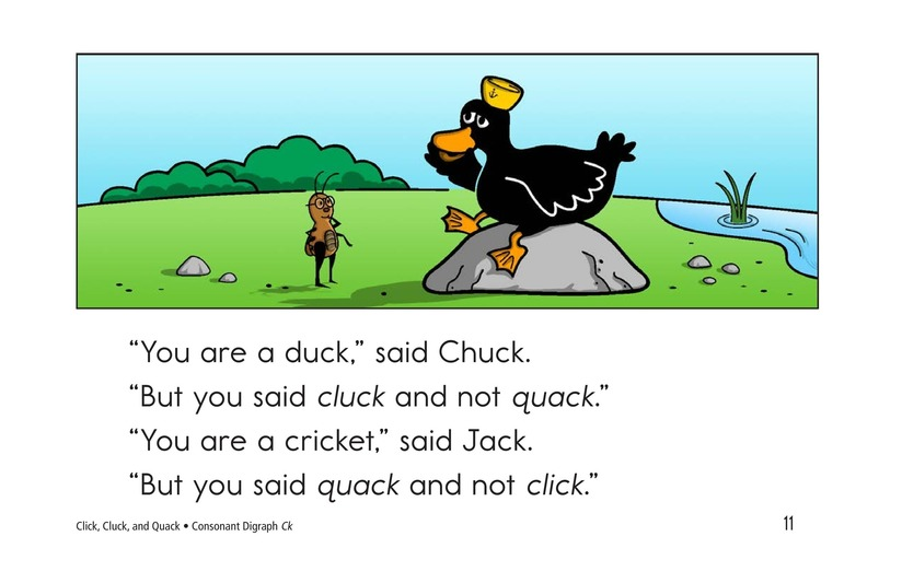 Book Preview For Click, Cluck, and Quack Page 11