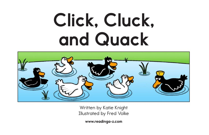 Book Preview For Click, Cluck, and Quack Page 2