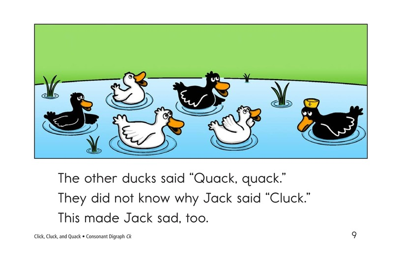 Book Preview For Click, Cluck, and Quack Page 9