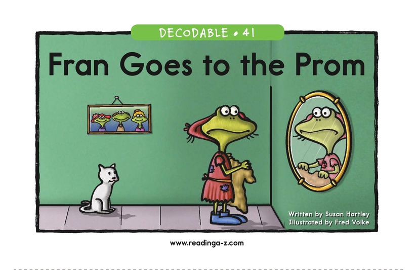 Book Preview For Fran Goes to the Prom Page 1