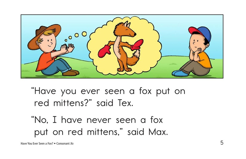 Book Preview For Have You Ever Seen a Fox? Page 5