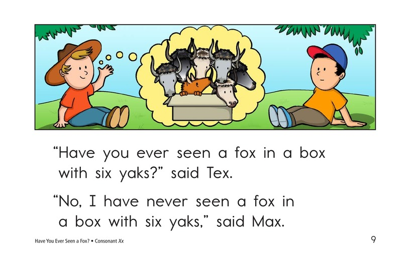 Book Preview For Have You Ever Seen a Fox? Page 9