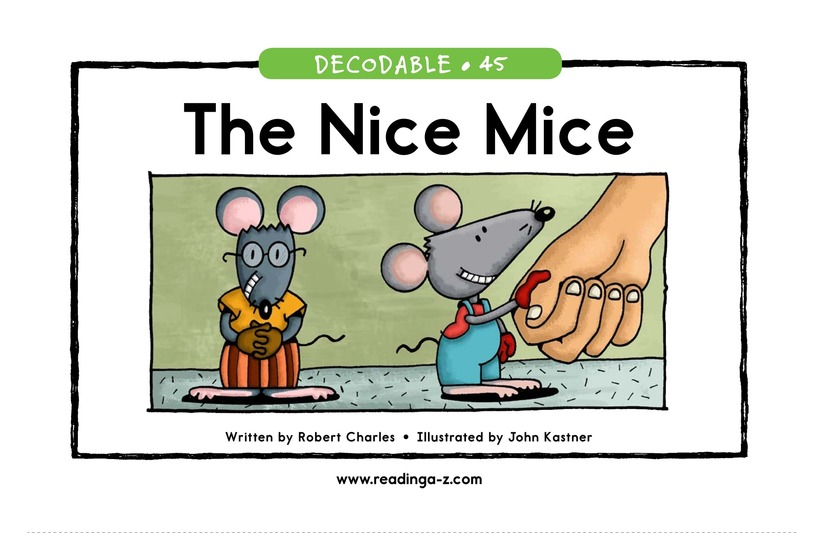 Book Preview For The Nice Mice Page 1