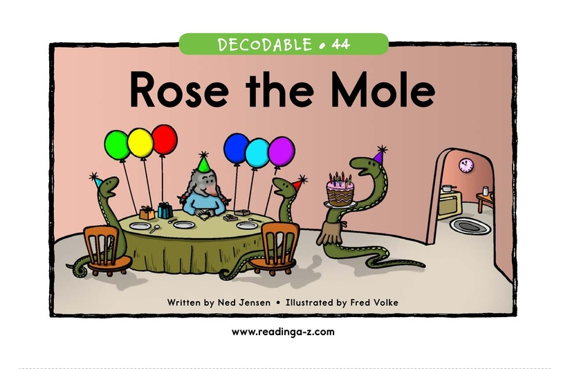 Book Preview For Rose the Mole Page 1