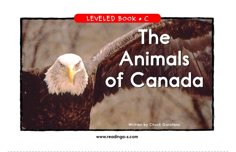 Book Preview For The Animals of Canada Page 1